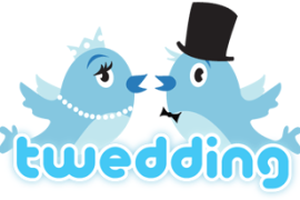 Twedding bells chime for blushing e-bride